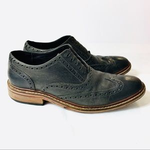Cole Haan Oxford Dress Shoes Black Leather 8.5